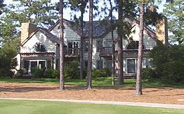 Single-family homes like this are just one of the many Pinehurst real estate options.